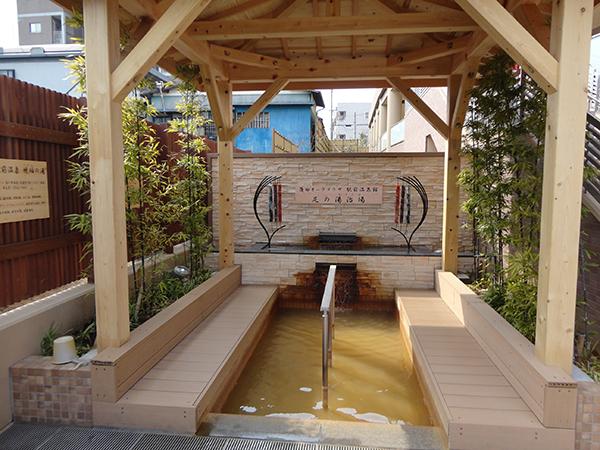 オーク足の湯治場